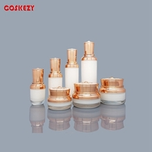 New Style Gold or White Acrylic Cosmetic Containers for Sale