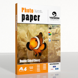 260gsm double sided glossy photo paper  A4