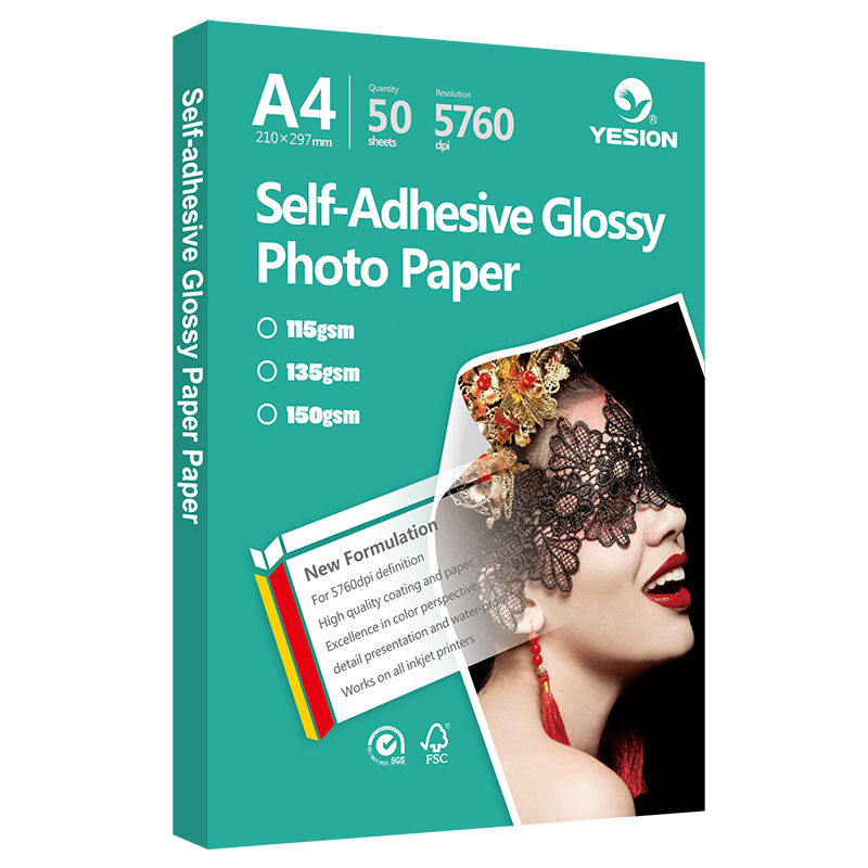 Glossy and matte sticker photo paper - www yesion com