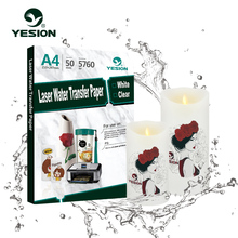 Laser clear water transfer paper