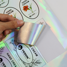 Inkjet waterproof  holographic PET sticker paper