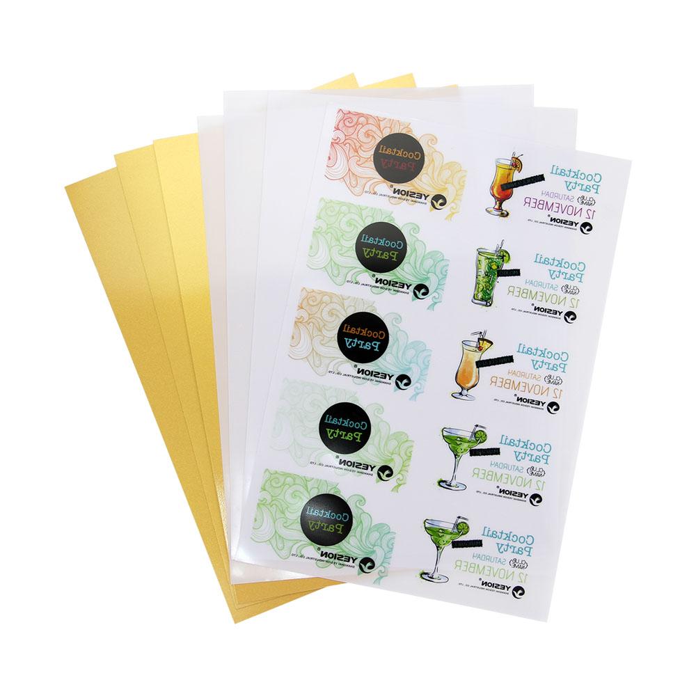 inkjet pvc card whitegoldsilver id card sheets
