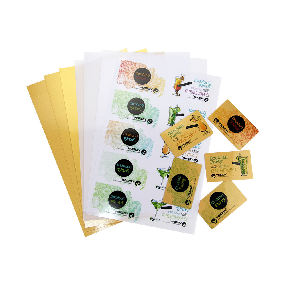 Inkjet PVC gold ID card sheets