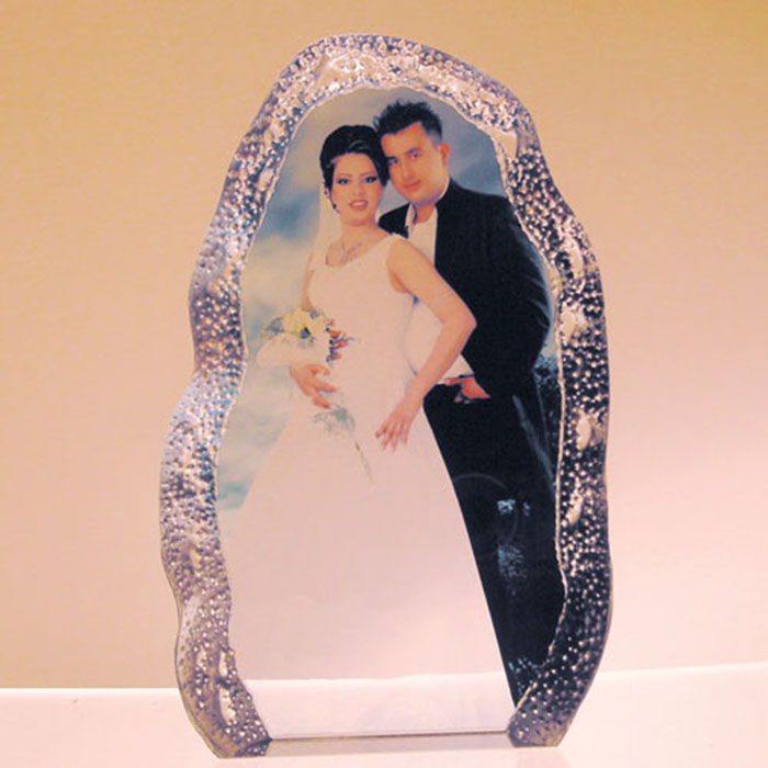 New Design Color Printed Crystal Photo Frames For Wedding