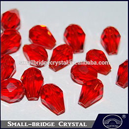 Loose Jewelry Siam Mix Color Crystal Water Drops Beads