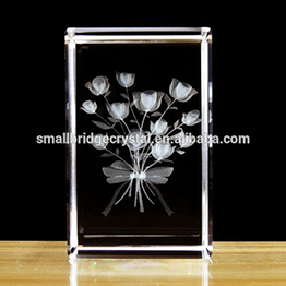 Wholesale cheaper 3d laser crystal glass block with for Wholesale glass blocks for crafts