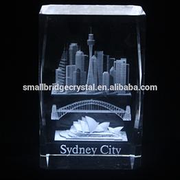 Hot Sale 3d Laser Crystal Cube Famous Sydney City