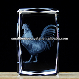 High Quality 3d Laser Engraved Crystal Gifts Of Cock