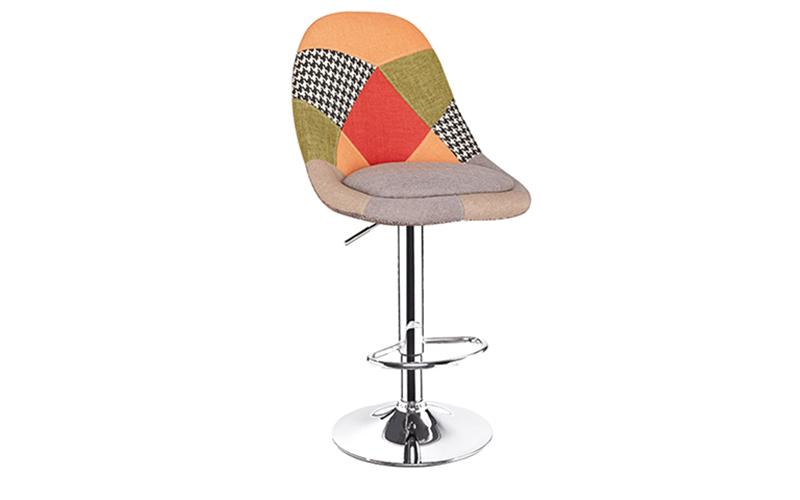Patchwork Fabric Cover Bar Stool Bavi Bar Stool Chair
