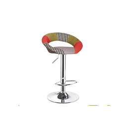 Patchwork Fabric Cover Bar Stool (Linfa)