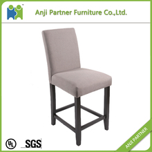 Leather wooden acrylic bar stool high back chair with various colors (Rumbia)