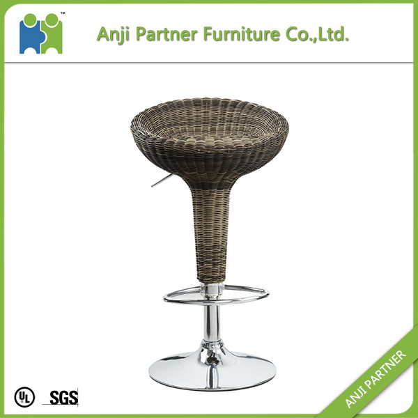Rattan Bar Stool High Chair Megi Bar Stool Chair Leather