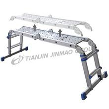Alum multi-use telescopic ladder