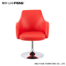 Custom red pu leather bar stool with metal frame