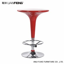 High quality round red bar table