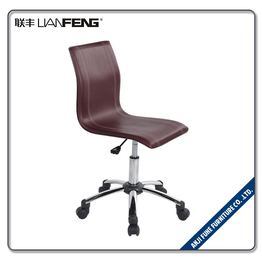 LIANFENG China factory swivel base brown PU leather bar stool