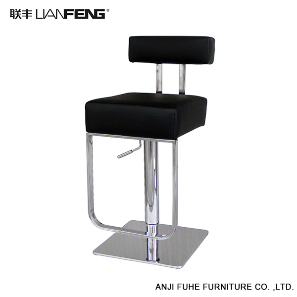 Lianfeng Black White Leather Lifting Bar Stool Bar