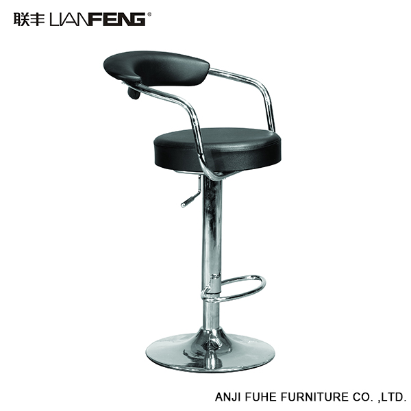 Lianfeng Swivel Back Rest Pvc Modern Red Bar Stool Bar
