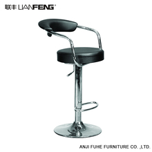 LIANFENG swivel back rest PVC modern red bar stool