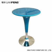 Simple and stylish design blue round bar table