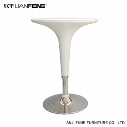 Simple and stylish design white round bar table