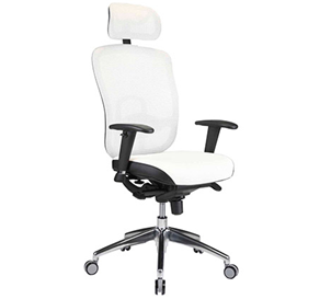small office stool  comfortable white desk chair