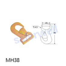 1 inch 1500kg snap hook for Ratchet straps