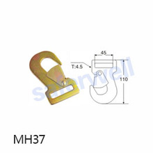 1.5 inch 2500kg snap hook zinc plated