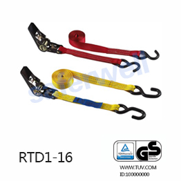 1inch x 15 feet BS1760lbs Ratchet buckle tensioner with S hooks