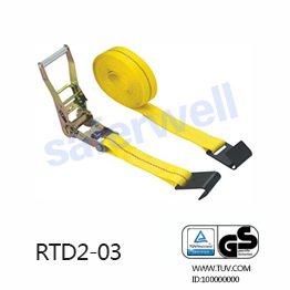 2 inch×30 feet BS10000lbs Ratchet Tie Down with Flat hooks