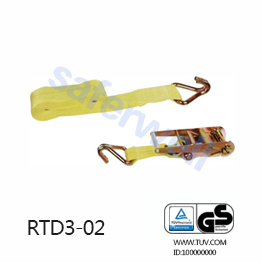 3 inch 30feet heavy duty Ratchet tie down with J hooks B.S 22000lbs