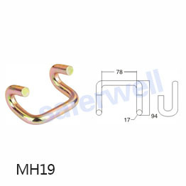 3 inch metal claw u hook for ratchet straps
