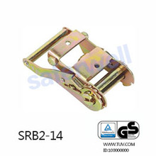Cargo short handle ratchet buckle