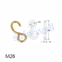 Steel material metal s hooks for fastening cargo