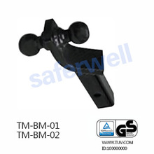 Dual-Ball Ball Mount - 2 inch & 2-5/16 inch Black trailer Ball Mount