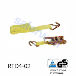 4 inch 30feet heavy duty Ratchet tie down with J hooks B.S 22000lbs