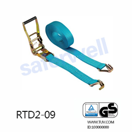 Blue ratchet strap with Aluminium handle 2 inch webbing width and 9M strap