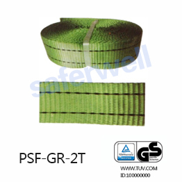 2T Green Polyester webbing for the sling, 100% high tenacity industrial polyester yarn