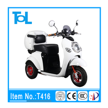 2017 New Model 3 wheel electric handicapped scooter adult with roomy seat China fast mobility scooter