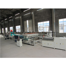 PC PE Hollow Grid Board Extrusion Line