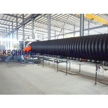 PE steel spiral wound pipe production line
