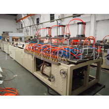 Plastic grid plate extrusion production line
