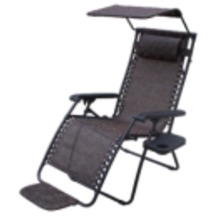 Zero Gravity Chair with Canopy, w/cup holder, w/foot rest