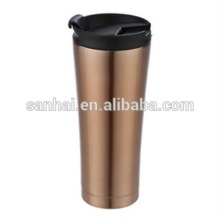 high quality double Walled Vacuum Insulation flask stright body mug