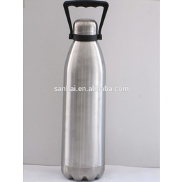 Cola Shape Double Wall Vacuum Stainless Cola Water Bottle with handle