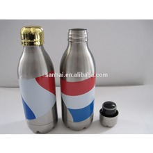 hot sales full pirinted soda bottle double wall vacuum insulated 350ml