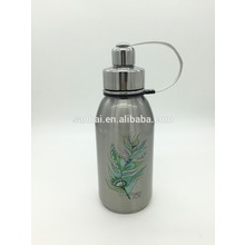Double Walled Vacuum sports water bottle with tea filter and belt