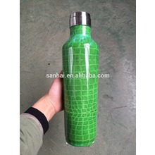 Double Walled Vacuum Flask with leather bag
