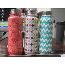 air transfer printing vacuum insulated water bottle with tea filter