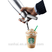Stainless steel 0.5L cream whipper dispenser for fancy coffee CW-001